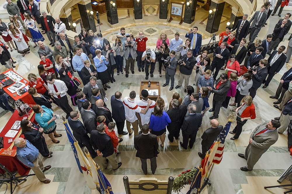 Photo: Overhead view of UW Day at the Capitol