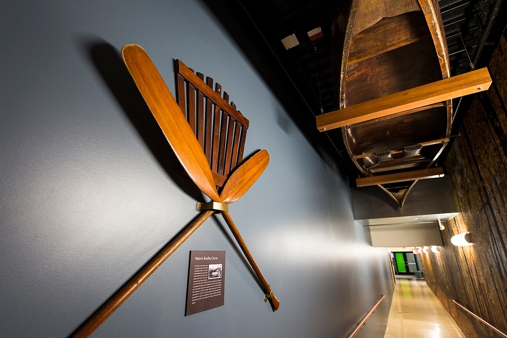Photo: Canoe hanging from ceiling