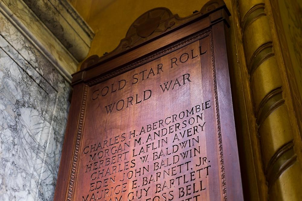 Photo: World War I honor roll