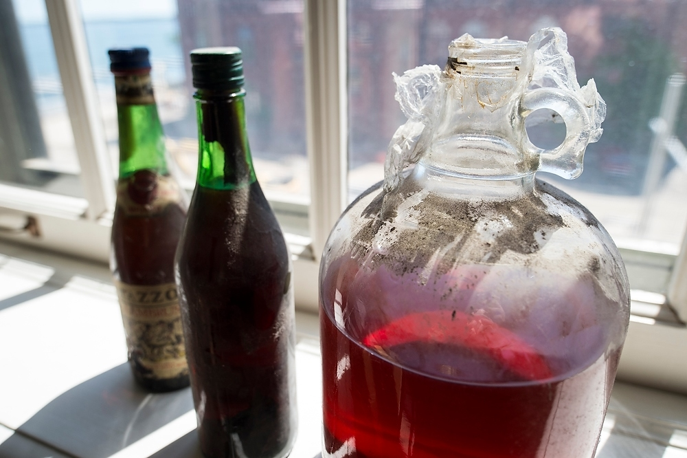 Photo: Bottles of moonshine