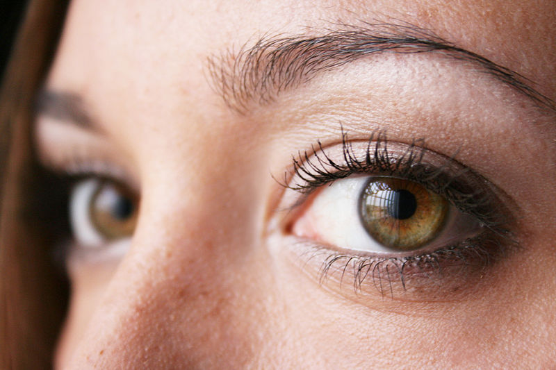 Photo: Closeup of woman's eyes