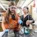 Photo: Grad student and PEOPLE student working on chemistry experiment