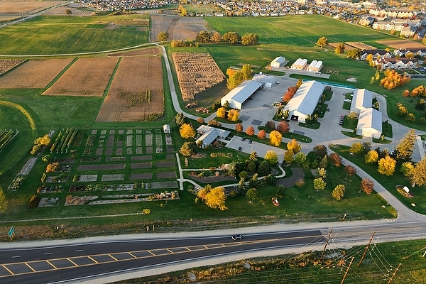 Photo: Aerial view of West Madison Agricultural Research Station