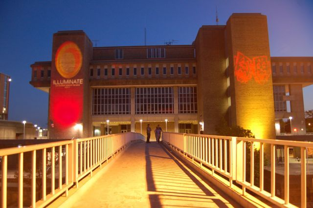 Photo: Vilas Hall and pedestrian bridge