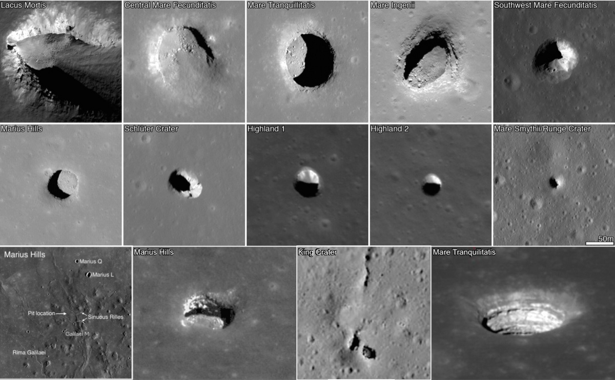 Photo: NASA image of lunar caves