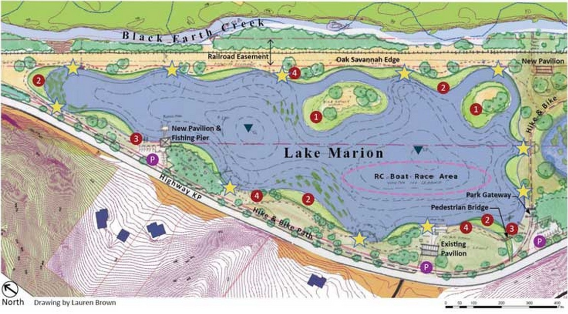 Illustration: Map of Lake Marion area