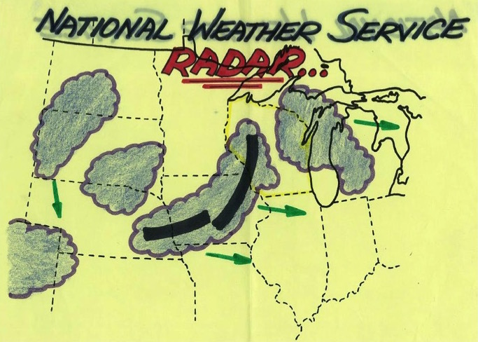 Photo: Hand-drawn forecast map