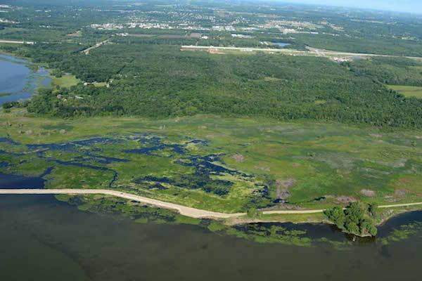 Photo: Island chain in Green Bay
