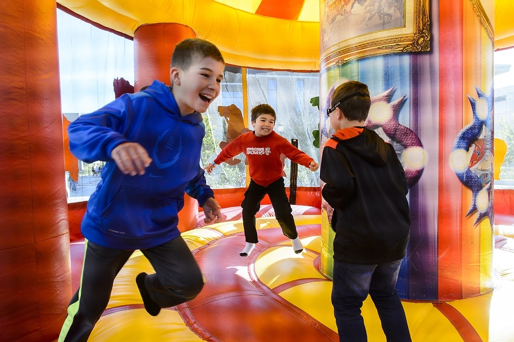 Photo: Children in bounce house