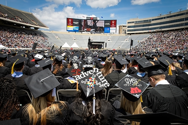 Photo: Commencement in Camp Randall 2014
