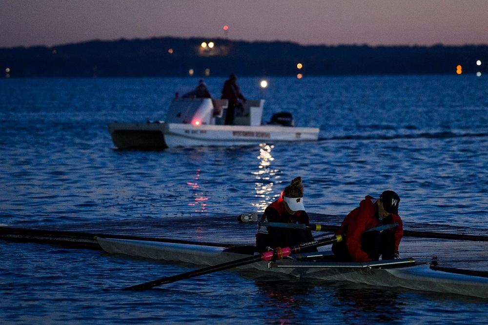 Photo: Crew members at pier