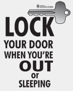 Lock your door poster