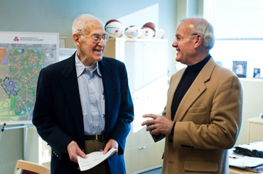 Photo of Irving Shain and Mark Bugher.