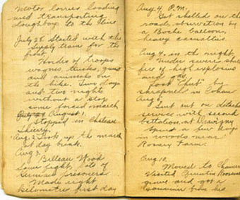 Image of a page from DeNomie's diary