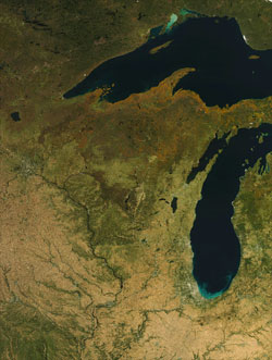 Art from above: Satellites see Wisconsin Satellite Maps Of Lake Winnebago on satellite maps of maine, satellite maps of california, satellite maps of united states, satellite maps of alabama, satellite maps of wisconsin, satellite maps of new york, satellite maps of hawaii,