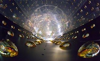 Interior of antineutrino detectors in the Daya Bay Reactor Neutrino Experiment.