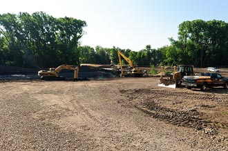 Photo of a graded construction site.