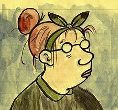 Graphic: Lynda Barry self-portrait