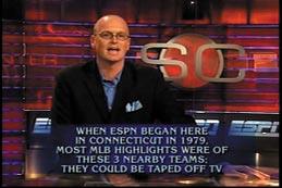 Photo of Van Pelt in ESPN Sportcenter studio
