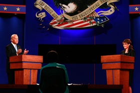 Photo: Biden-Palin debate