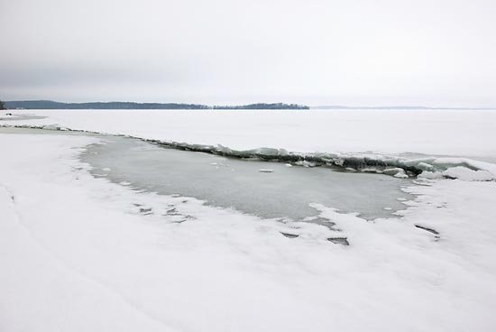 Photo of ice quake