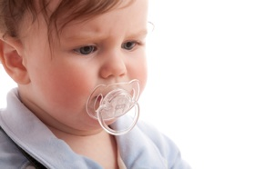Photo: Baby with pacifier