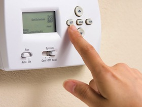 Photo: programmable thermostat