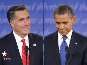 Photo: Romney-Obama debate