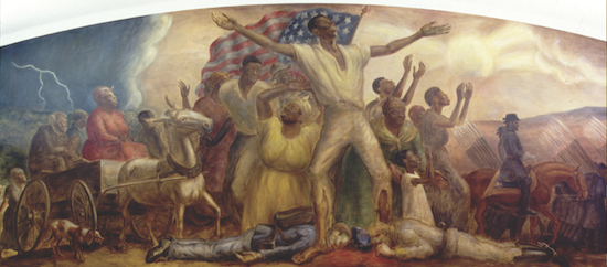 "Painting: ""The Freeing of the Slaves"" by John Steuart Curry"