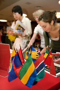 Photo: students at study abroad fair