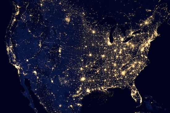 Photo: Suomi satellite image of U.S.