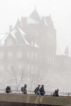Photo Campus snowstorm
