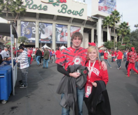 Photo: Sara Schultz at the 2011 Rose Bowl
