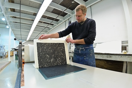 Photo: printmaker at Tandem Press