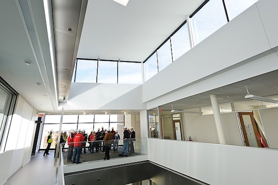 Photo: interior of Wisconsin Energy Institute