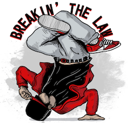 Artwork: break dancer & festival logo