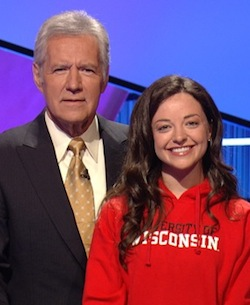 Photo: Alex Trebek and Julia Sprangers