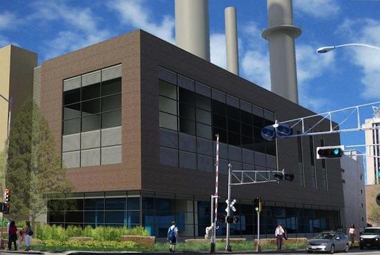 Image: artist's rendering of Charter Street Heating Plant