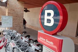 Photo: B-cycle station at Union South