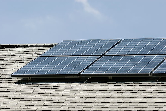 Photo: solar panels on home roof
