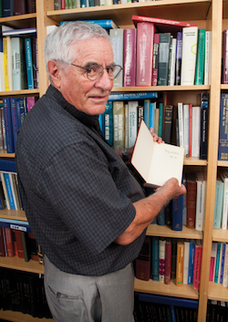 Photo: Hector DeLuca with book