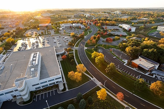 Photo: aerial view of University Research Park
