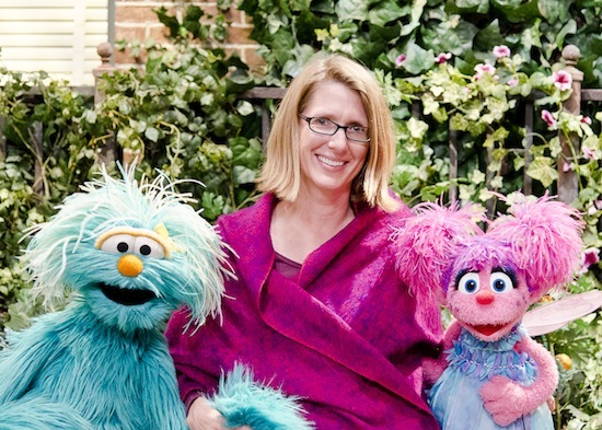 Photo: Julie Poehlmann with Muppets