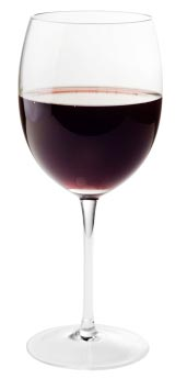 Photo of a glass of red wine