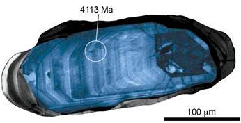 False-color image of zircon