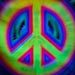 Technicolor peace symbol