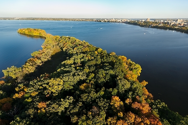 Photo: Lake Mendota seen from the air