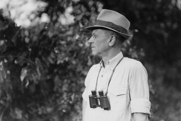 Photo: Aldo Leopold with binoculars