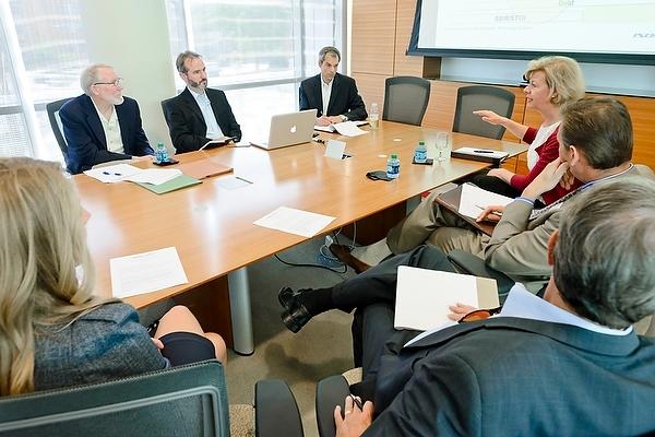 Photo: Sen. Baldwin meeting with high-tech officials