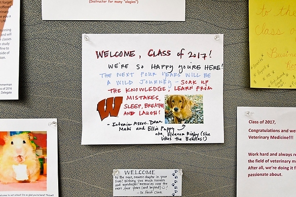 Photo: notes on bulletin board